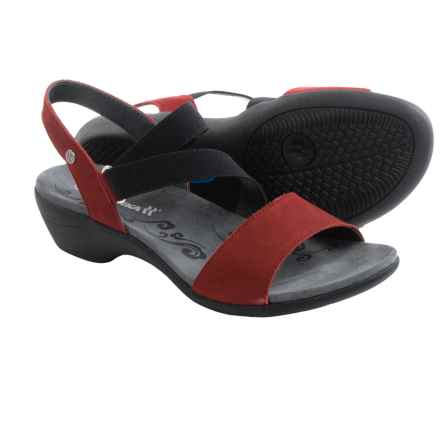 Romika Palma 03 Sandals - Nubuck (For Women) in Red Nubuck - Closeouts