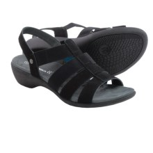 Romika Palma 05 Sandals (For Women) in Black Nubuck - Closeouts