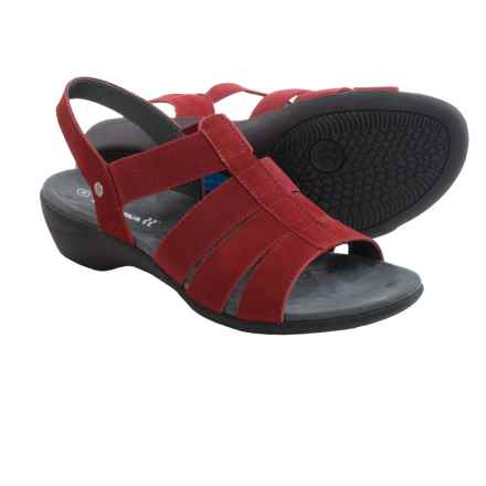 Romika Palma 05 Sandals (For Women) in Red Nubuck - Closeouts