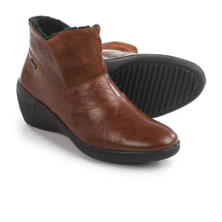 Romika Savona 01 Wedge Ankle Booties - Leather (For Women) in Tan - Closeouts