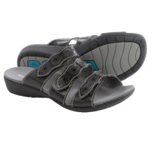 Romika Tahiti 01 Sandals - Leather (For Women) in Black - Closeouts