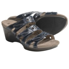 Romika Waikiki 15 Sandals - Leather, Wedge Heel (For Women) in Blue - Closeouts
