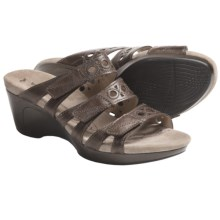 Romika Waikiki 15 Sandals - Leather, Wedge Heel (For Women) in Espresso - Closeouts