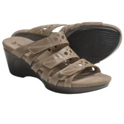 Romika Waikiki 15 Sandals - Leather, Wedge Heel (For Women) in Basalt