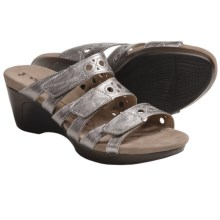 Romika Waikiki 15 Sandals - Leather, Wedge Heel (For Women) in Platinum - Closeouts