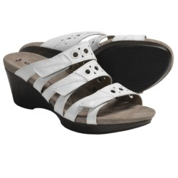 Romika Waikiki 15 Sandals - Leather, Wedge Heel (For Women) in Basalt