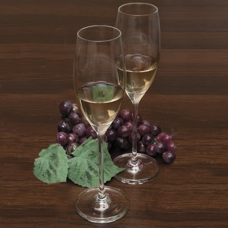 Rona Wine Expert Sparkling Wine Glasses - Crystal, Set of 2 in See Photo