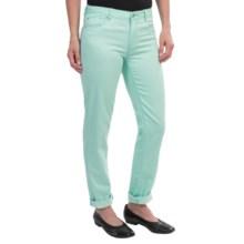 Ronen Chen Sunny Stretch Skinny Jeans - Mid Rise (For Women) in Aqua - Closeouts