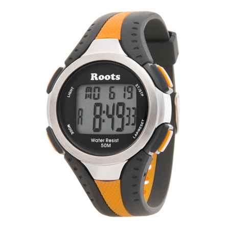 Roots Blackcomb Digital Display Quartz Chronograph Watch in Black/Orange - Closeouts