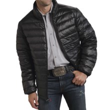 Roper 50/50 Crushable Down Jacket (For Men and Big Men) in Black - Closeouts