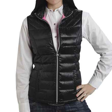 Roper 50/50 Crushable Down Vest (For Women) in Black - Closeouts