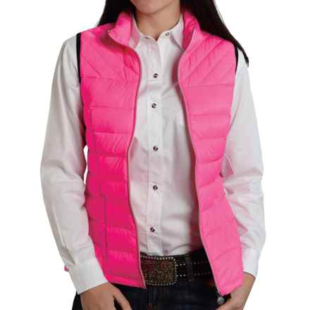 Roper 50/50 Crushable Down Vest (For Women) in Pink - Closeouts