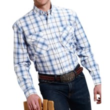 Roper Amarillo Blue Horizon Ombre Plaid Shirt - Button Front, Long Sleeve (For Men and Big Men) in Black/Blue - Closeouts