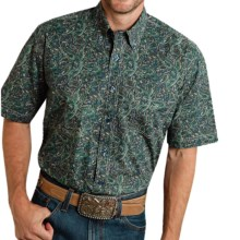 Roper Amarillo Collection Printed Shirt - Short Sleeve (For Men and Big Men) in Tumbleweed Paisley - Closeouts
