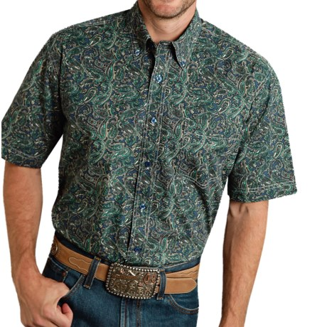 Roper Amarillo Collection Printed Shirt Short Sleeve (For Men and Big Men)