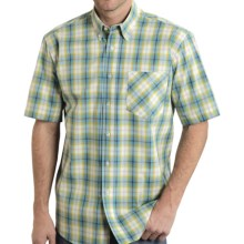 Roper Amarillo Collection Shirt - Short Sleeve (For Men and Big Men) in Lemon Grass Plaid - Closeouts