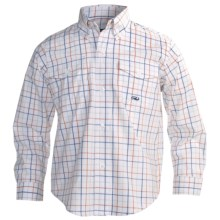 Roper Amarillo Cotton Shirt - Long Sleeve (For Boys) in Orange - Closeouts