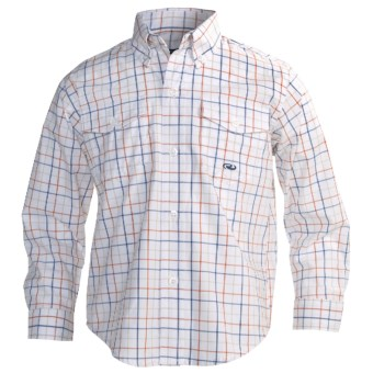 Roper Amarillo Cotton Shirt - Long Sleeve (For Boys) in Orange