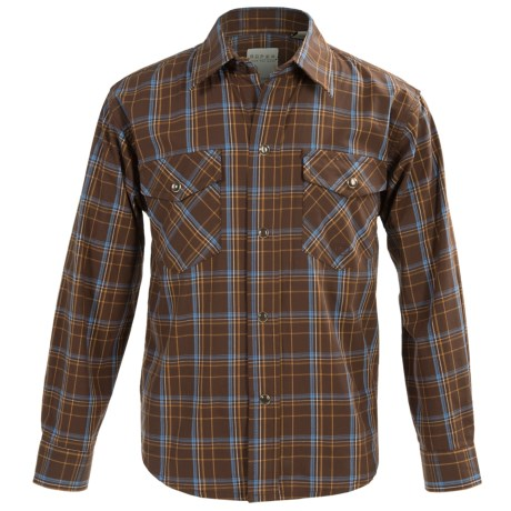 Roper Amarillo Cotton Shirt - Long Sleeve  (For Little and Big Boys) in Coco Plaid