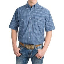 Roper Amarillo Plaid Shirt - Button-Front, Short Sleeve (For Men) in Summer Navy - Closeouts