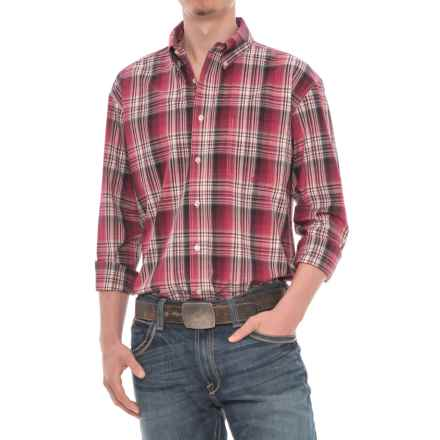 Roper Amarillo Plaid Shirt - Long Sleeve (For Men) in Brick - Closeouts