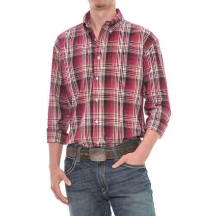 Roper Amarillo Plaid Shirt - Long Sleeve (For Men) in Brick - Closeouts