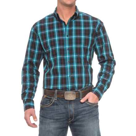 Roper Amarillo Plaid Shirt - Long Sleeve (For Men) in Onyx - Closeouts