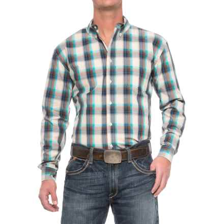 Roper Amarillo Plaid Shirt - Long Sleeve (For Men) in Sage - Closeouts