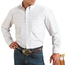 Roper Amarillo Plaid Shirt - Long Sleeve (For Men) in White - Closeouts