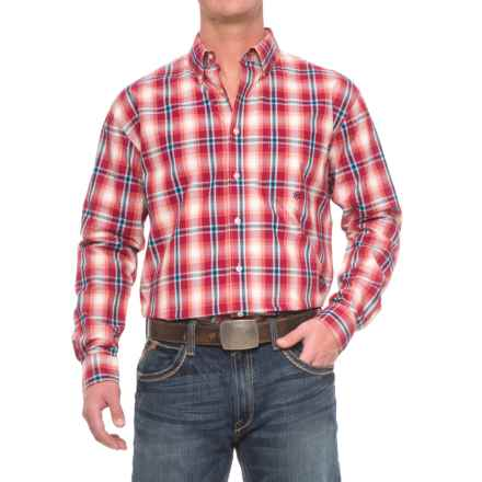 Roper Amarillo Plaid Shirt - Long Sleeve (For Men) in Wine - Closeouts
