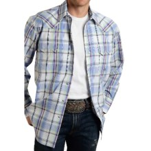 Roper Amarillo Plaid Shirt - Snap Front, Long Sleeve (For Men and Big Men) in Tall Grass, Wild Iris - Closeouts