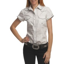 Roper Amarillo Shirt - Snap Front, Short Sleeve (For Women) in Grey - Closeouts