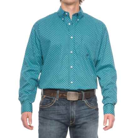 Roper Amarillo Western Shirt - Long Sleeve (For Men) in Bias Geo - Closeouts