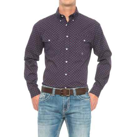 Roper Amarillo Western Shirt - Long Sleeve (For Men) in Checkered Geo - Closeouts