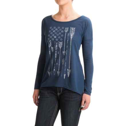 Roper Arrow Flag Shirt - Long Sleeve (For Women) in Blue - Closeouts