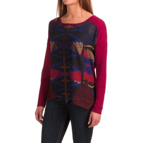 Roper Aztec Print Sweater (For Women) in Wine