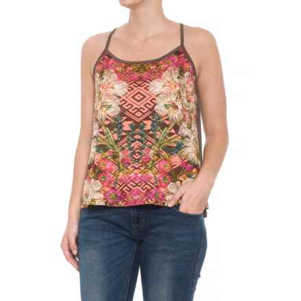 Roper Aztec Slub Jersey Tank Top (For Women) in Brown - Closeouts