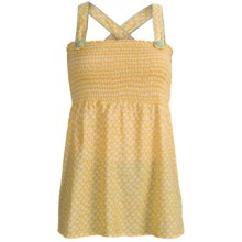Roper Baby Doll Shirt - Sleeveless, Floral Print (For Women) in Yellow - Closeouts