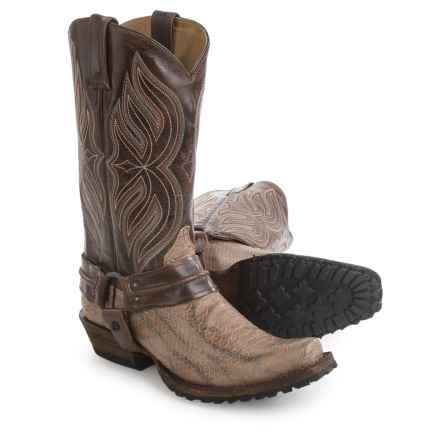 "Roper Bandit Toe Harness Cowboy Boots - 13"" (For Men) in Tan - Closeouts"