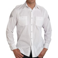 Roper Bedford Shirt - Cotton, Long Sleeve (For Men) in White - Closeouts