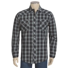 Roper Black Hills Shirt - Ombre Plaid, Long Sleeve (For Men) in Black - Closeouts