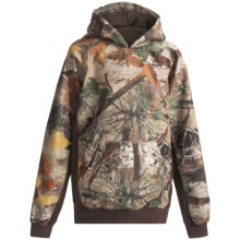Roper Bonded Fleece Hoodie (For Boys) in Brown Camo - Closeouts