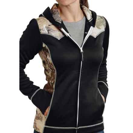 Roper Bonded Fleece Jacket (For Women) in Black/Camo - Closeouts