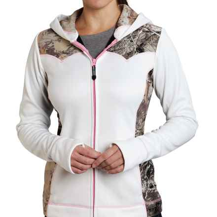 Roper Bonded Fleece Jacket (For Women) in White/Camo - Closeouts