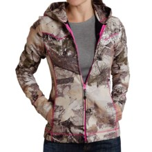 Roper Bonded Fleece Jacket - Hooded (For Women) in Winter Camo - Closeouts