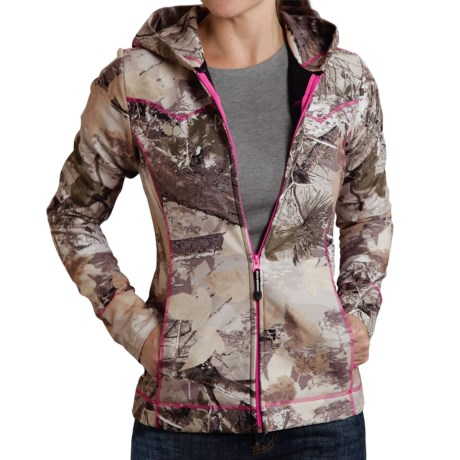 Roper Bonded Fleece Jacket Hooded (For Women)