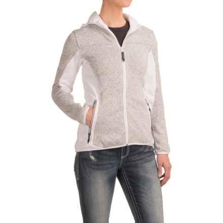 Roper Bonded Fleece Sweater Hoodie (For Women) in Grey - Closeouts