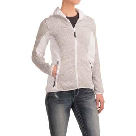 Roper Bonded Fleece Sweater Hoodie (For Women) in Grey - Closeouts