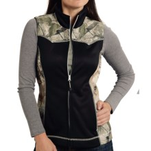 Roper Bonded Fleece Vest (For Women) in Black - Closeouts