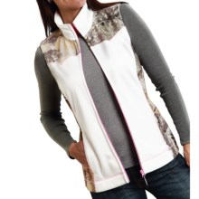 Roper Bonded Fleece Vest (For Women) in White - Closeouts